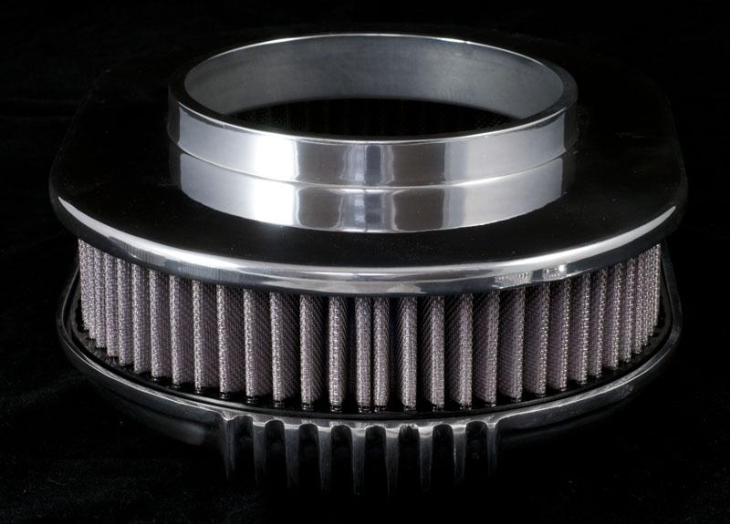 "12"" OVAL ""The Comet"" Luftfilter Aluminium OTB gear 4430"