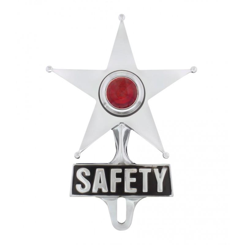 Bremslicht Safety Star License Frame Ornament - Red C5046