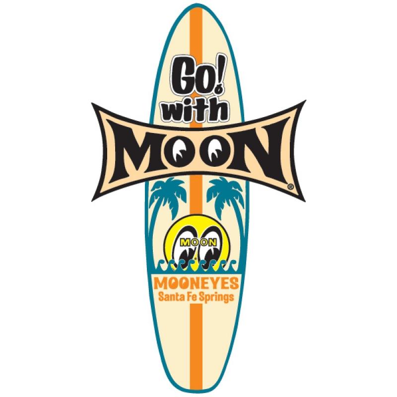 Go! with MOON Surfboard Sticker MOONEYES DM147 Aufkleber