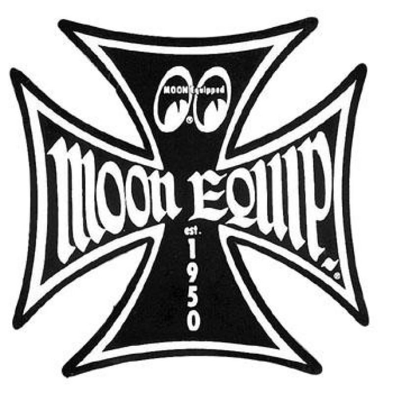 "MOON EQUIPPED IRON CROSS STICKER Black 3"" MOONEYES MQD020BKS Aufkleber"