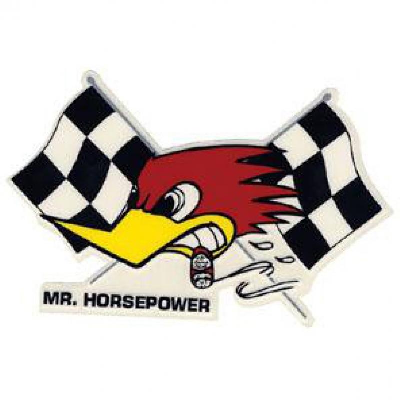 STICKER MR. HORSEPOWER FLAG (LEFT)