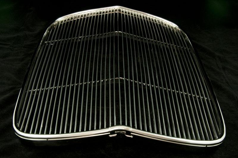 1932 GRILL Kühler FORD EDELSTAHL POLIERT 32 DEUCE