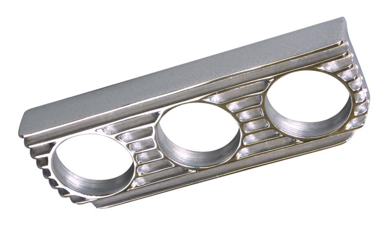 3 fach Instrumenten halter Alu poliert OTB Gear 6124 gauge panel