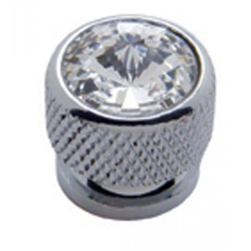 Chrome Bolt Head - Diamond clear
