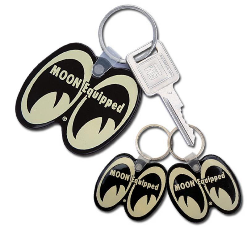 Schlüsselanhänger Moon Equipped Eye Shaped/Black MOONEYES MKR113