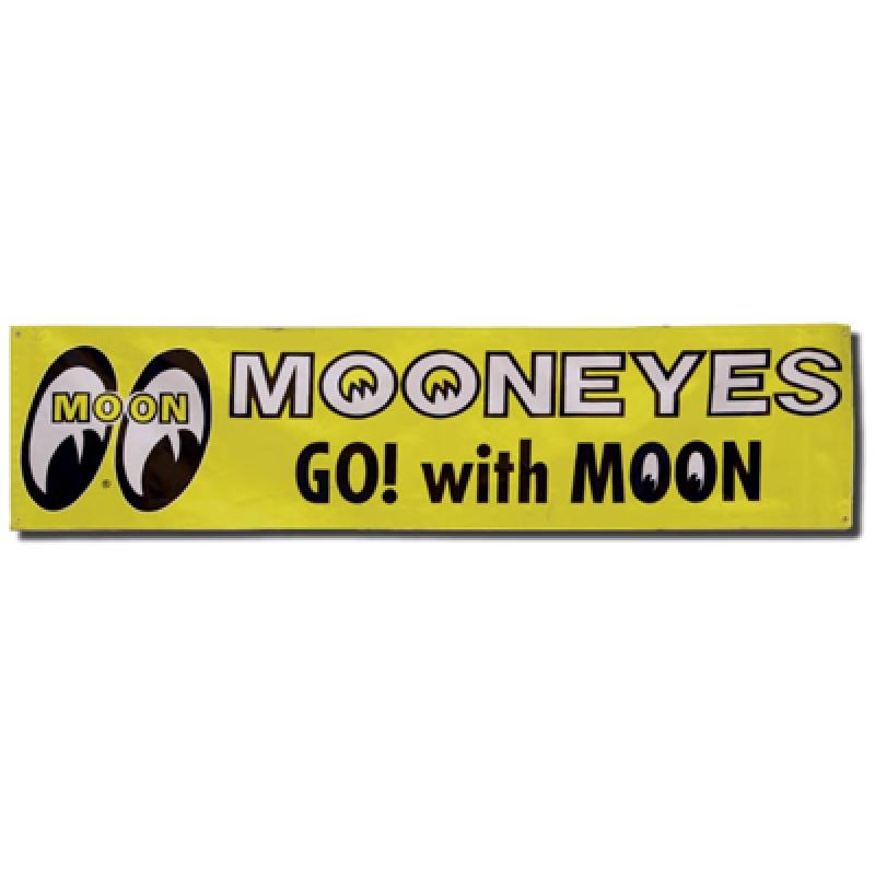 MOONEYES VINYL BANNER GELB MG103 MOON
