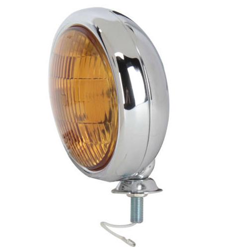 Chrome Vintage Style Nebelscheinwerfer - orange C364007