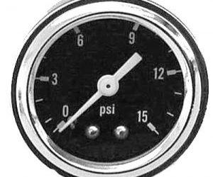 Benzindruckanzeige