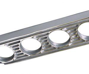 4 fach Instrumentenhalter Alu poliert OTB Gear 6126 gauge panel