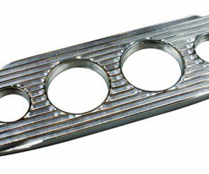 6 fach Armaturenblende Aluminium